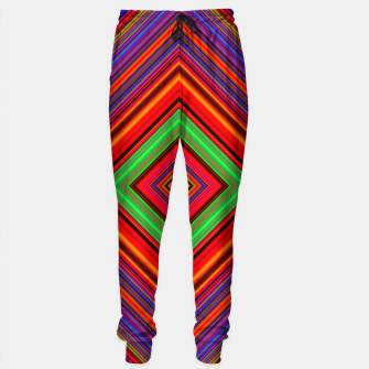 Imagen en miniatura de Multicolored Line Burst Pattern Sweatpants, Live Heroes