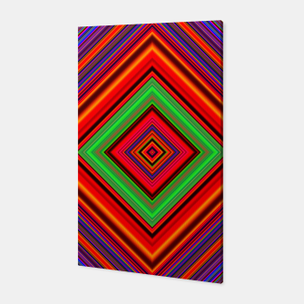 Thumbnail image of Multicolored Line Burst Pattern Canvas, Live Heroes