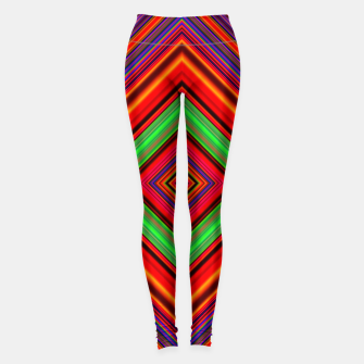 Miniature de image de Multicolored Line Burst Pattern Leggings, Live Heroes