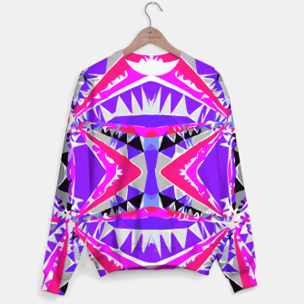 Miniature de image de psychedelic geometric abstract pattern background in pink and purple Sweater, Live Heroes