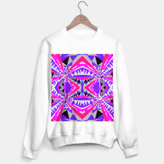 Thumbnail image of psychedelic geometric abstract pattern background in pink and purple Sweater regular, Live Heroes