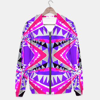 Miniature de image de psychedelic geometric abstract pattern background in pink and purple Hoodie, Live Heroes