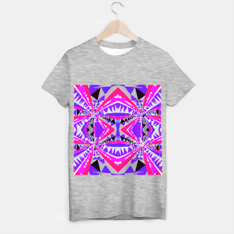 Miniaturka psychedelic geometric abstract pattern background in pink and purple T-shirt regular, Live Heroes
