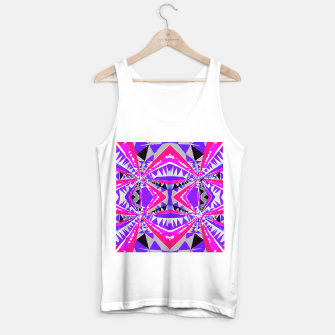 Miniaturka psychedelic geometric abstract pattern background in pink and purple Tank Top regular, Live Heroes