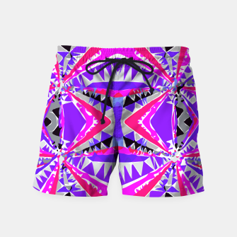 Miniature de image de psychedelic geometric abstract pattern background in pink and purple Swim Shorts, Live Heroes
