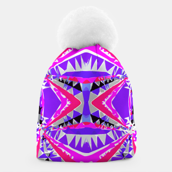 Imagen en miniatura de psychedelic geometric abstract pattern background in pink and purple Beanie, Live Heroes
