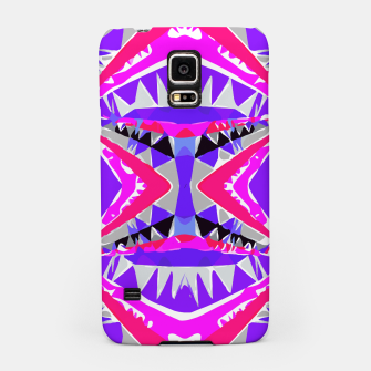 Miniaturka psychedelic geometric abstract pattern background in pink and purple Samsung Case, Live Heroes
