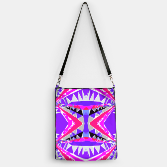 Miniature de image de psychedelic geometric abstract pattern background in pink and purple Handbag, Live Heroes