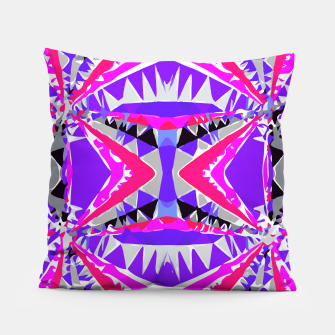 Miniaturka psychedelic geometric abstract pattern background in pink and purple Pillow, Live Heroes