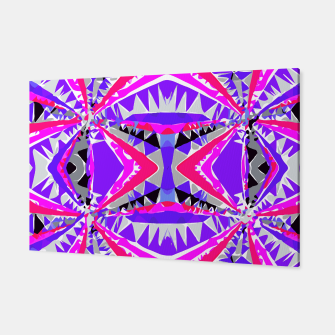 Miniaturka psychedelic geometric abstract pattern background in pink and purple Canvas, Live Heroes