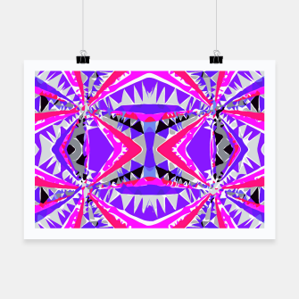 Miniature de image de psychedelic geometric abstract pattern background in pink and purple Poster, Live Heroes