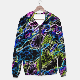 Miniature de image de psychedelic rotten sketching texture abstract background in blue yellow pink Hoodie, Live Heroes