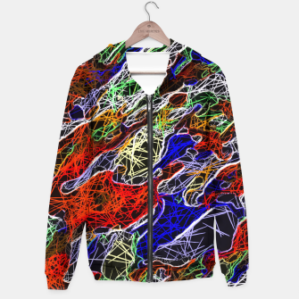 Miniature de image de psychedelic rotten sketching texture abstract background in red blue green Hoodie, Live Heroes