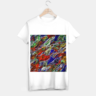 Miniaturka psychedelic rotten sketching texture abstract background in red blue green T-shirt regular, Live Heroes