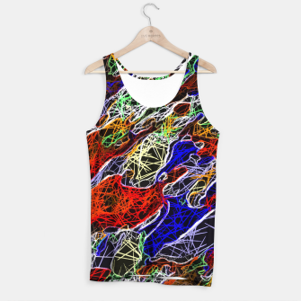 Miniature de image de psychedelic rotten sketching texture abstract background in red blue green Tank Top, Live Heroes