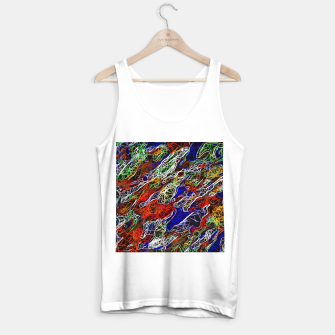 Miniaturka psychedelic rotten sketching texture abstract background in red blue green Tank Top regular, Live Heroes