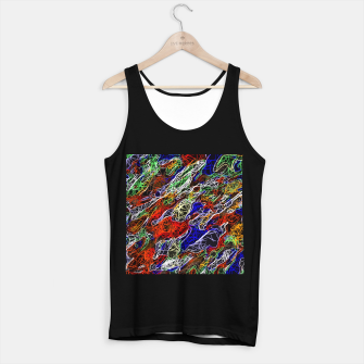 Miniature de image de psychedelic rotten sketching texture abstract background in red blue green Tank Top regular, Live Heroes