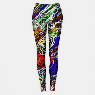 Miniature de image de psychedelic rotten sketching texture abstract background in red blue green Leggings, Live Heroes