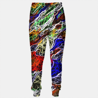 Thumbnail image of psychedelic rotten sketching texture abstract background in red blue green Sweatpants, Live Heroes