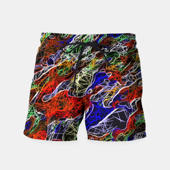 Miniature de image de psychedelic rotten sketching texture abstract background in red blue green Swim Shorts, Live Heroes