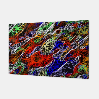 Miniaturka psychedelic rotten sketching texture abstract background in red blue green Canvas, Live Heroes