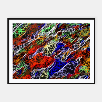Miniature de image de psychedelic rotten sketching texture abstract background in red blue green Framed poster, Live Heroes
