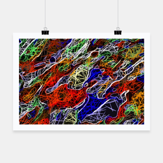 Miniature de image de psychedelic rotten sketching texture abstract background in red blue green Poster, Live Heroes