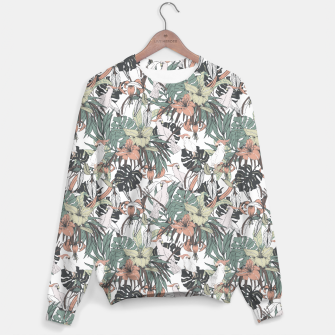Miniature de image de Pattern drawing exotic birds in the rainforest Sudadera, Live Heroes