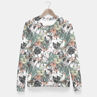 Miniature de image de Pattern drawing exotic birds in the rainforest Sudadera entallada, Live Heroes