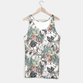 Thumbnail image of Pattern drawing exotic birds in the rainforest Camiseta de tirantes, Live Heroes