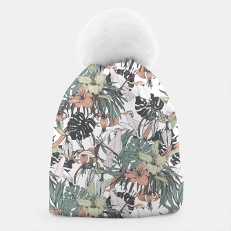 Imagen en miniatura de Pattern drawing exotic birds in the rainforest Gorro, Live Heroes