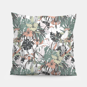 Miniaturka Pattern drawing exotic birds in the rainforest Almohada, Live Heroes