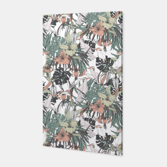 Miniaturka Pattern drawing exotic birds in the rainforest Canvas, Live Heroes