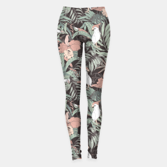 Miniature de image de Exotic birds in the jungle 01 Leggings, Live Heroes