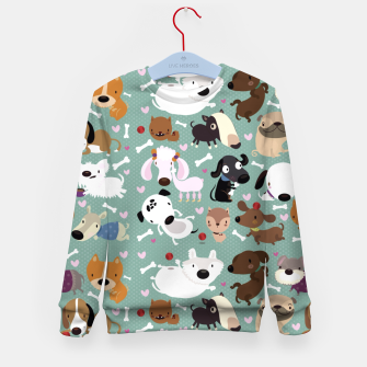 Miniatur Dogs pattern Kid's Sweater, Live Heroes