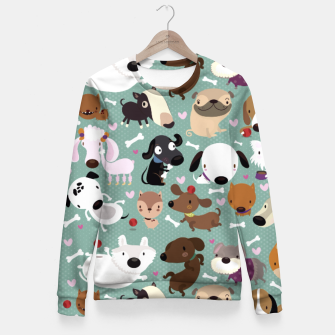 Miniature de image de Dogs pattern Fitted Waist Sweater, Live Heroes