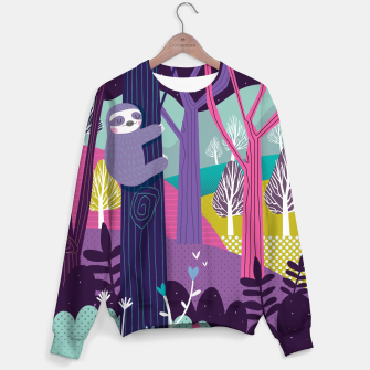 Thumbnail image of Sloth in woods Sweater, Live Heroes