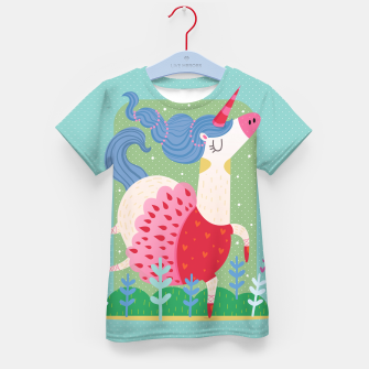 Thumbnail image of Ballerina unicorn Kid's T-shirt, Live Heroes