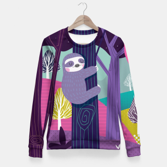 Miniature de image de Sloth in woods Fitted Waist Sweater, Live Heroes