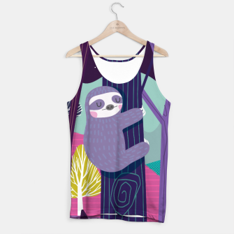 Thumbnail image of Sloth in woods Tank Top, Live Heroes