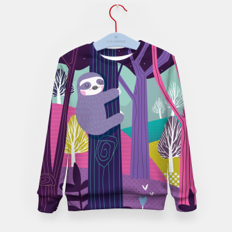 Imagen en miniatura de Sloth in woods Kid's Sweater, Live Heroes