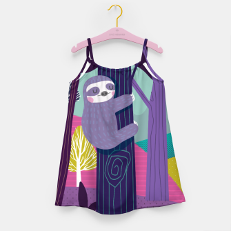 Thumbnail image of Sloth in woods Girl's Dress, Live Heroes