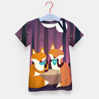 Thumbnail image of Tea time Kid's T-shirt, Live Heroes