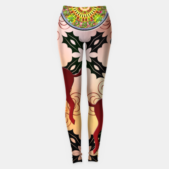Thumbnail image of Ugly Sweater Christmas Reindeer Design Leggings, Live Heroes