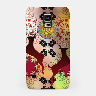 Thumbnail image of Ugly Sweater Christmas Reindeer Design Samsung Case, Live Heroes