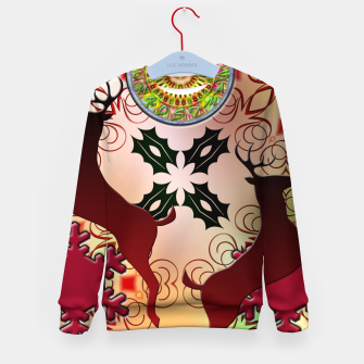 Thumbnail image of Ugly Sweater Christmas Reindeer Design Kid's Sweater, Live Heroes