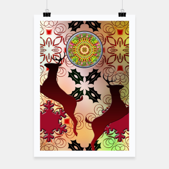 Thumbnail image of Ugly Sweater Christmas Reindeer Design Poster, Live Heroes