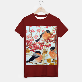 Miniatur Bullfinches_oil T-shirt regular, Live Heroes