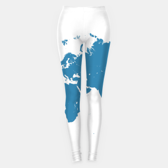 Thumbnail image of blue maps Legginsy, Live Heroes
