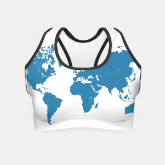 Thumbnail image of blue maps Crop Top, Live Heroes